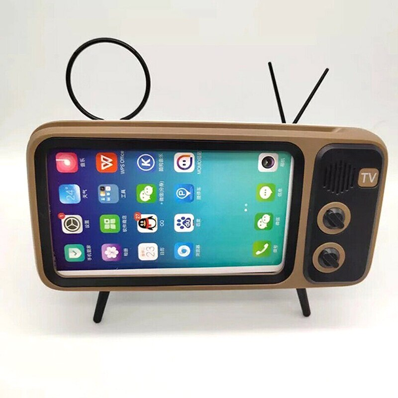 Nuevo Mini altavoz Retro TV teléfono móvil soporte de pantalla inalámbrico portátil altavoces de Audio DOM668
