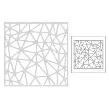 2020 nouveau carré fond métal matrices de découpe pour bricolage gaufrage pyramide motif décoration carte de voeux coupe papier Scrapbooking