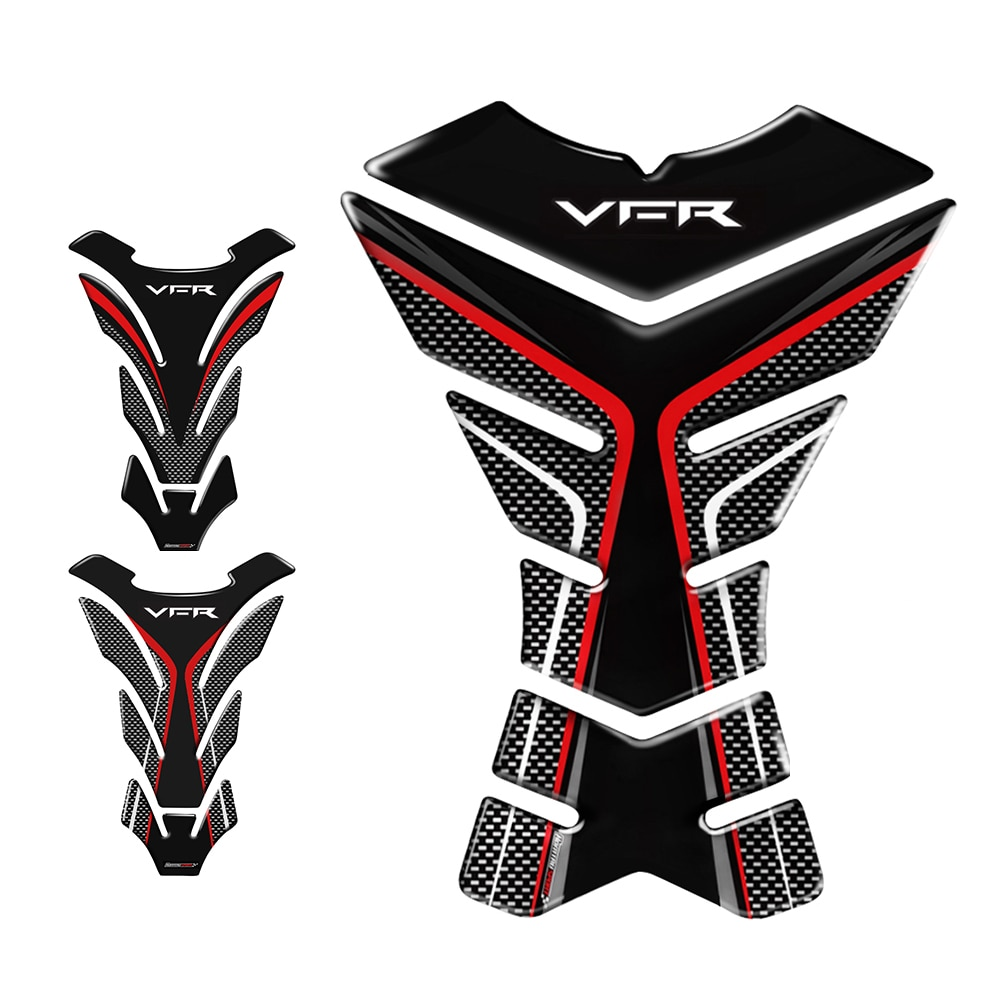 3D защитная накладка на бак мотоцикла наклейки чехол для Honda VFR 800 800F 800X 1200 1200F 1200X 400 Tank