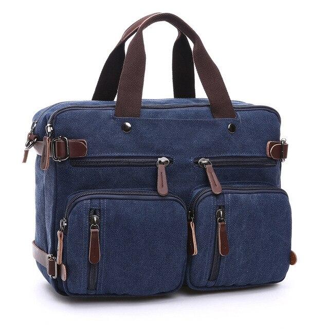 Scione الرجال حقيبة قماش قنب حقيبة جلدية السفر حقيبة رسول حقيبة كتف الظهر حقيبة كبيرة عادية جيب كمبيوتر محمول للأعمال