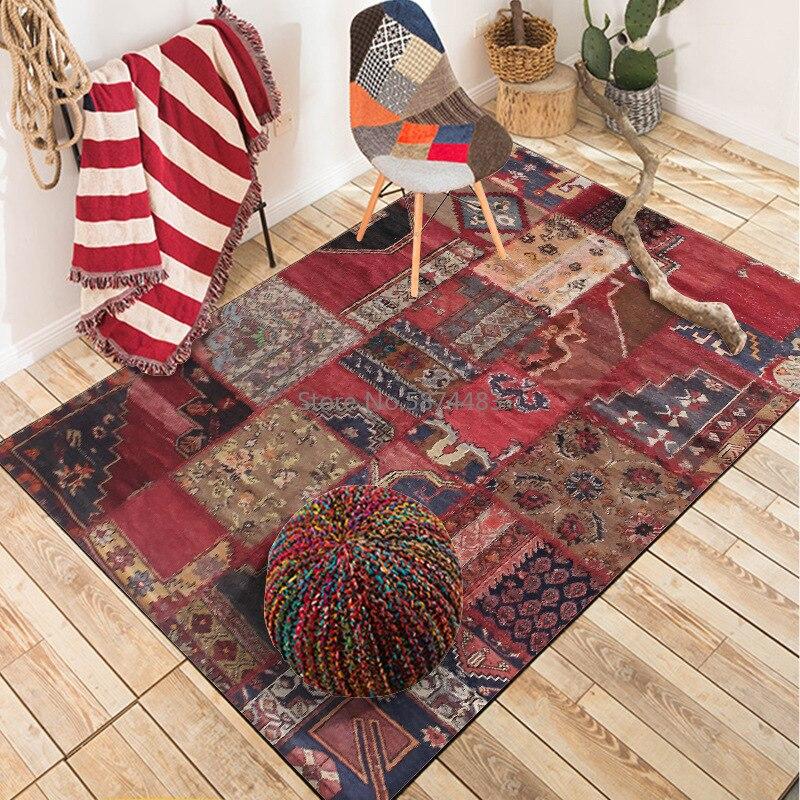 سجادة أرضية على الطراز العرقي الهندي ، 200 × 300 سنتيمتر ، باب غرفة نوم أحمر ، مطبخ ، حمام ، سجادة قابلة للتخصيص