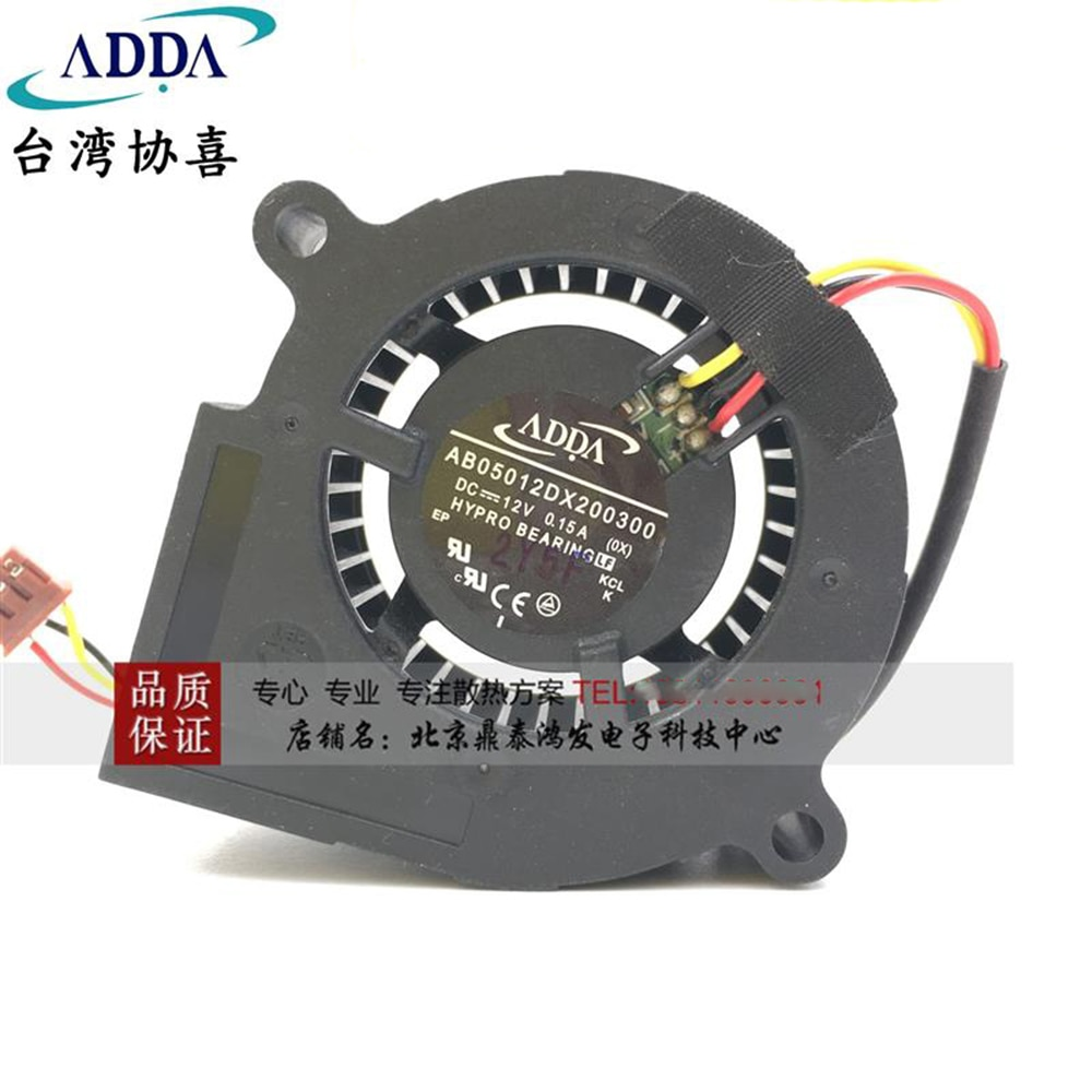 FOR ADDA AB05012DX200300 50*50*20mm 5CM DC 12V 0.15A projector Blower cooling fan