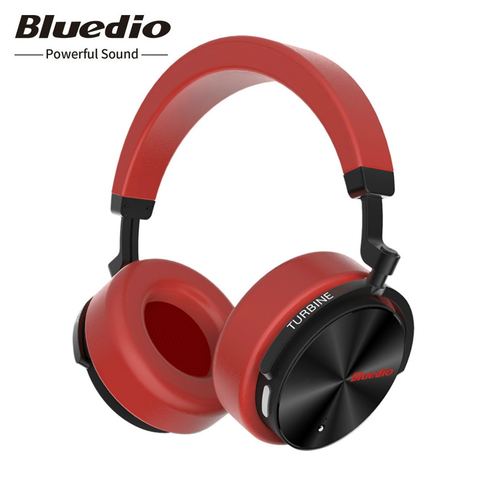 Bluedio-سماعة رأس لاسلكية T5 مزودة بتقنية البلوتوث وميكروفون ، وسماعة رأس رياضية مع إلغاء نشط للضوضاء ، وصوت ستيريو هاي فاي ، أصلي