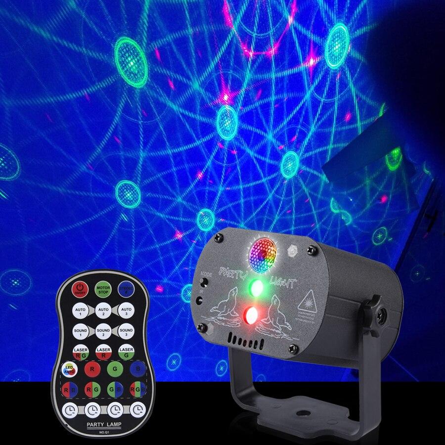 Usb luz de discoteca mini rgb led laser estgio projetor vermelho azul verde iluminao interior projetor luzes da lmpada festa a