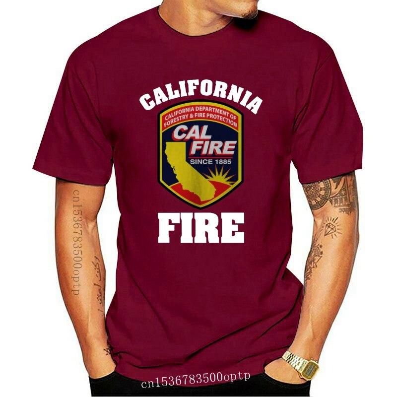 New 2021 Fashion 2021 California Firefighter Fire Department Rare Navy T-Shirt M-3XL Tee shirt