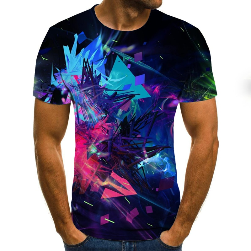 Summer T shirt Men Streetwear Round Neck Short Sleeve Tees Tops Funny Animal Male Clothes Casual  3D Print Tshirt