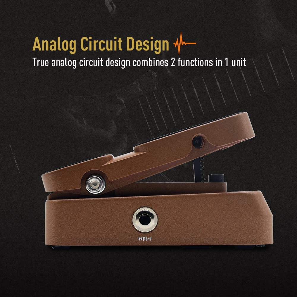 Sonicake Passive Volume Expression Guitar Effects Pedal True Analog Circuit Design Hard Plastic Lightweight Casing Rob QEP-02 enlarge
