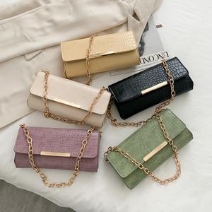 PU Leather Women Handbags Ladies Chain Travel Solid Color Shoulder Bag Totes Chain Female Elegant Shoulder Handbags