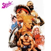 sticky arcade the king of fighters allstar anime car sticker decal decor motorcycle off road laptop trunk