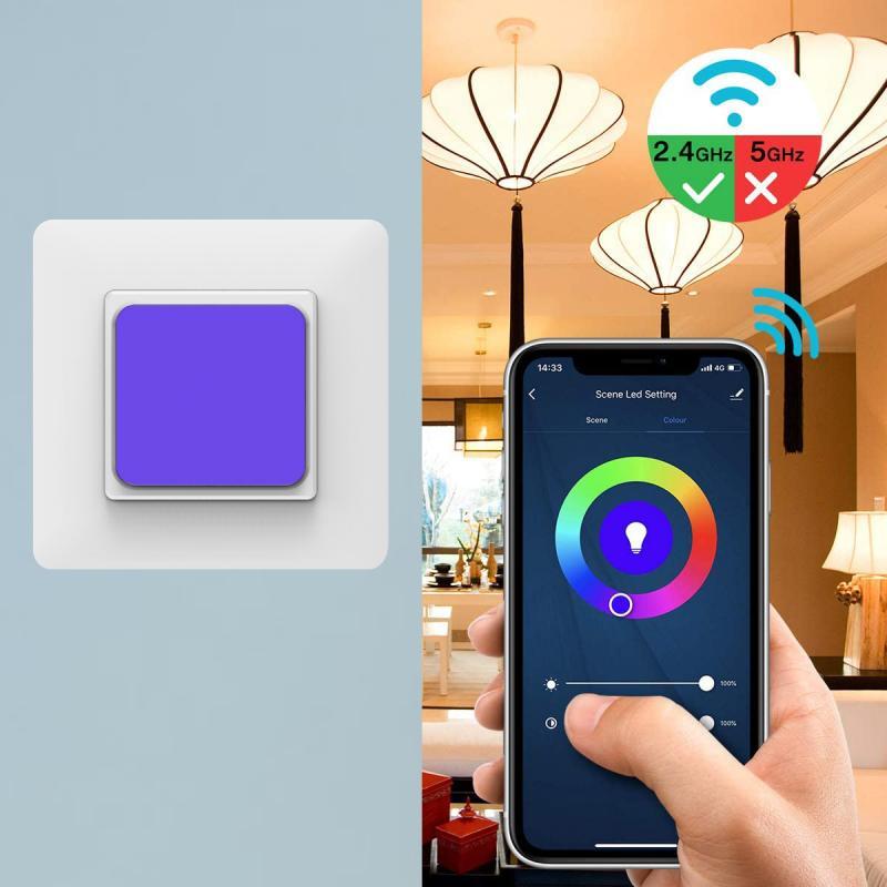 10A WiFi Smart Home RGB Switch LED Scene Light Switch Wireless APP Intelligent Voice Control Family Intelligence System