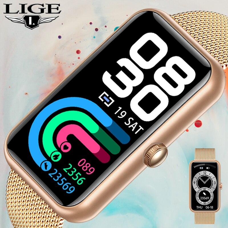 LIGE NEW Smart Watch Women Heart Rate Monitor Bracelet Sports Fitness Pedometer Smartwatch For Xiaom