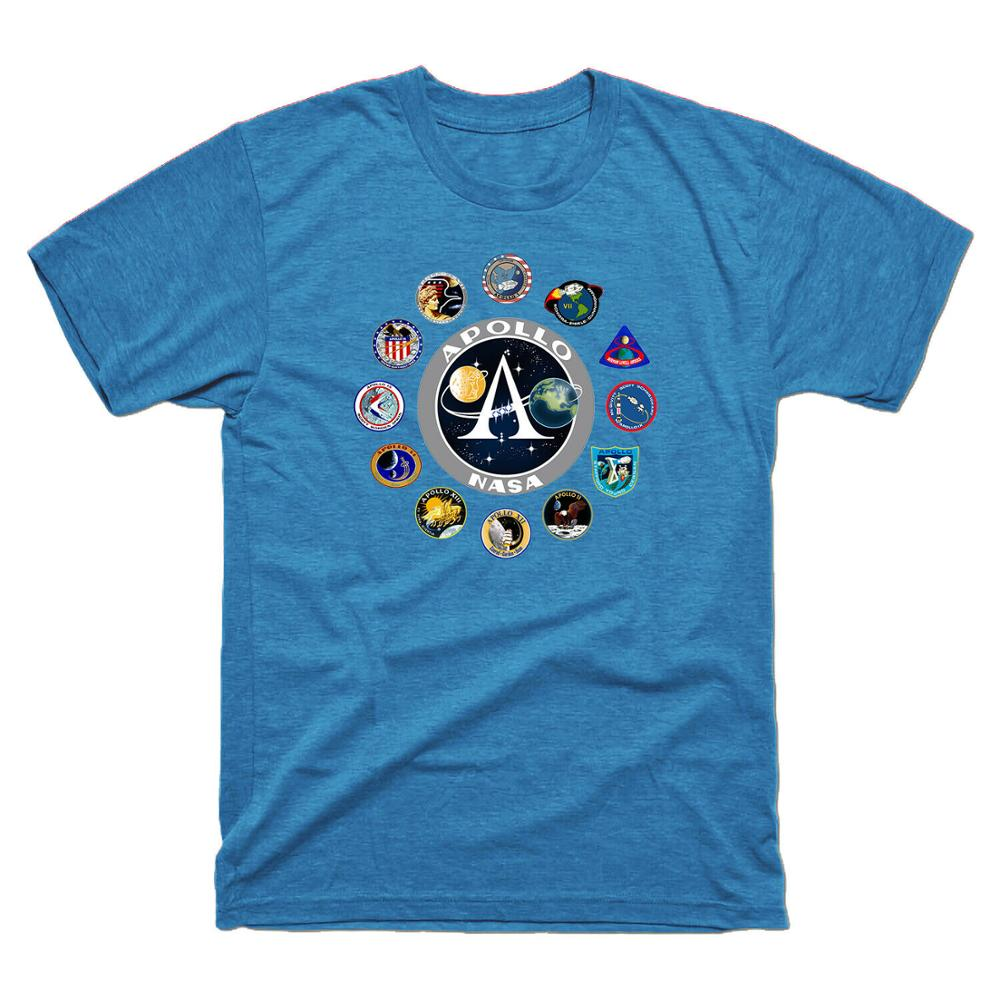 Apollo Missions parche insignia Apolo 11 camiseta para hombres camisetas de manga corta 2020 camiseta divertida camisetas de algodón de manga corta