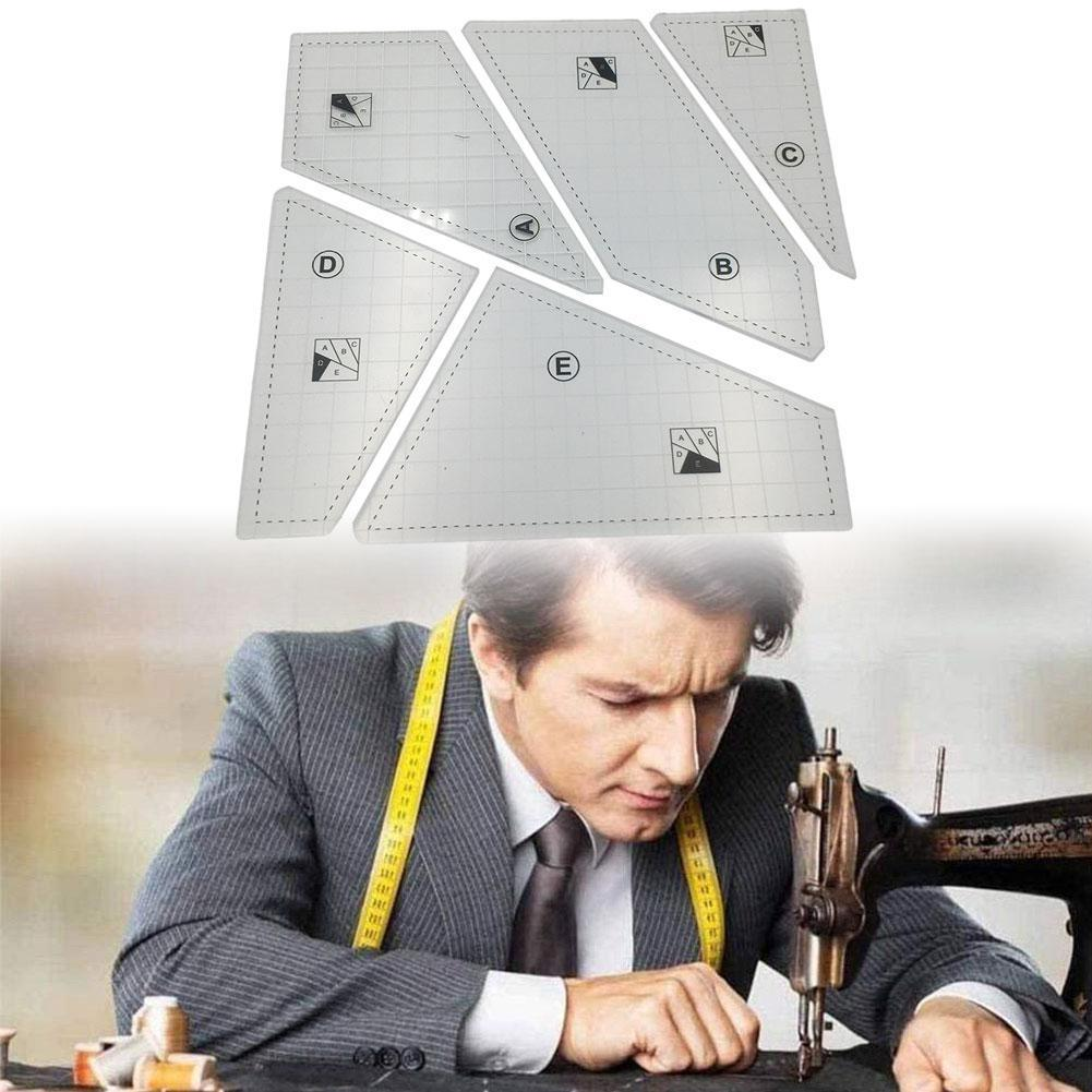 5Pcs Fashion Design Pattern Tools Sewing French Curve Set Craft Ruler Tool Tailor Measure Dressmaking Drawing Dropship Temp C0C3