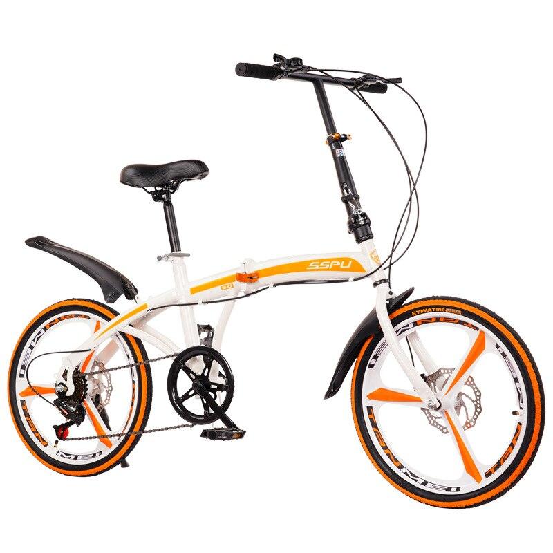 JOYLOVE 20 بوصة متغيرة السرعة مزدوجة مكبح قرصي للطي دراجة الكبار في الهواء الطلق ركوب سبيكة عجلة واحدة الطريق دراجة هوائية جبلية