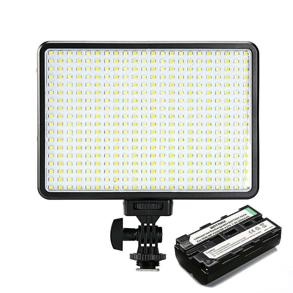 396 LED لمبات الإضاءة ثنائية اللون و عكس الضوء سليم DSLR فيديو مصباح ليد F550 بطارية شاحن لكانون نيكون كاميرا كاميرا فيديو DV