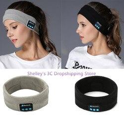 Sem fio bluetooth fone de ouvido esportes bandana para homem mulher estéreo música mãos-livres para correr jogging