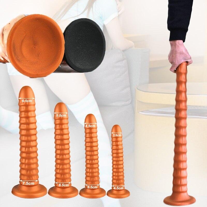 40 см Супер длинная Анальная пробка большая Анальная пробка Dilatador Анальная пробка анальные игрушки для женщин взрослые секс-игрушки для мужч...