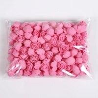 Ourson en Roses artificielles 3cm  50 100 200 pieces  fausses fleurs  en mousse  pour un mariage  pour un decor de noel  pour une boite cadeau