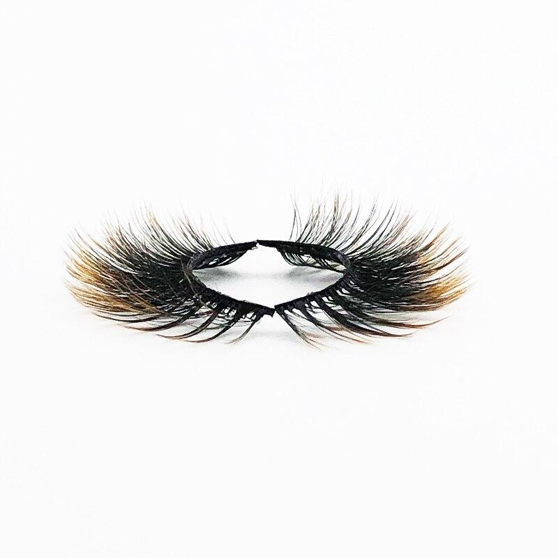 Flash girl Hot sale good quality E03 5 pairs colorful mink eyelashes 16 styles beautiful eyelashes