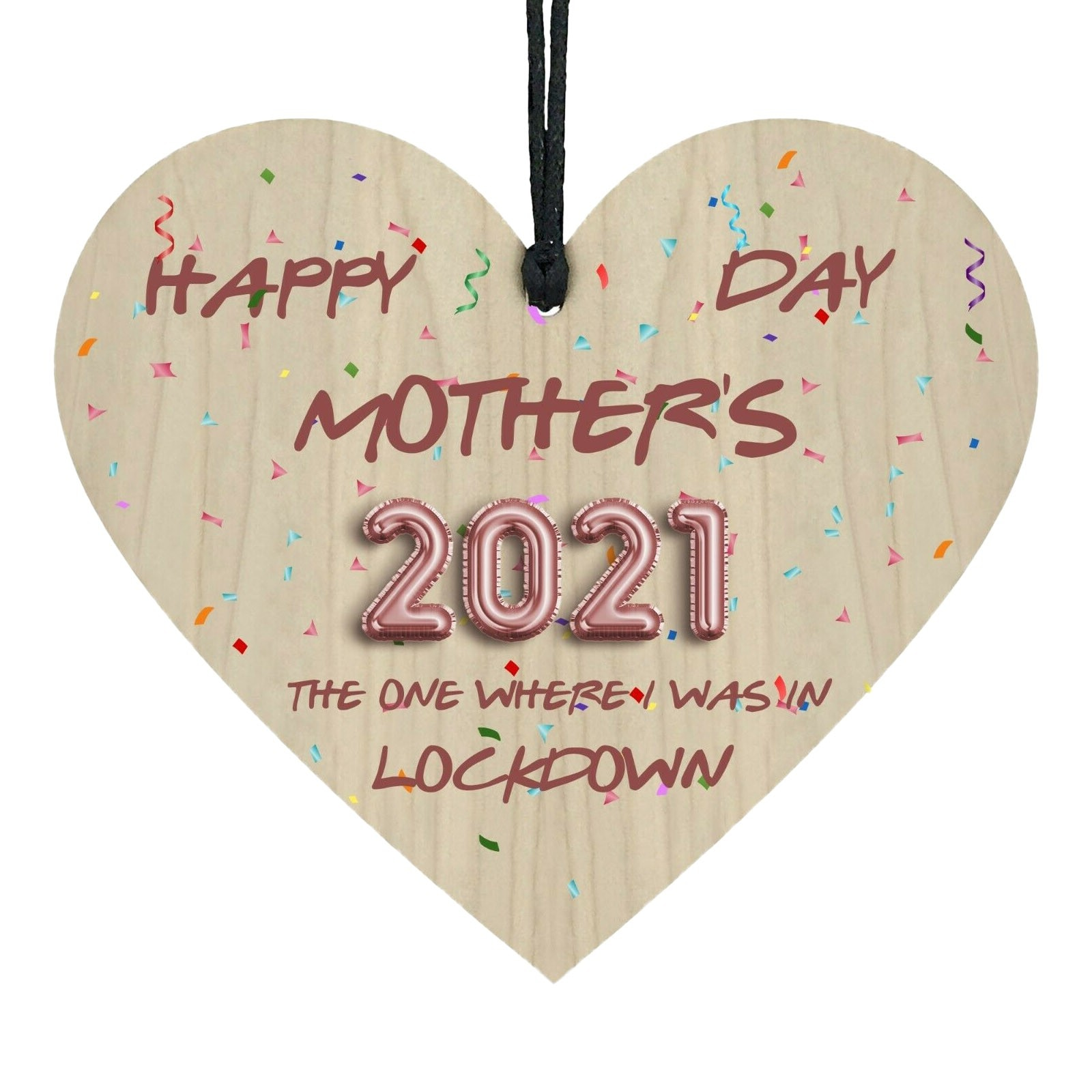 2021 Colorful Mother's Day Locked Handmade Wooden Heart Birthday Christmas Day Gifts Door Room Wall Decoration Accessories NEW  - buy with discount