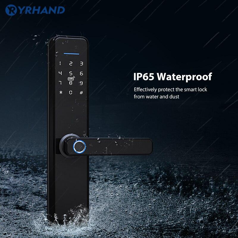 Review Biometric Fingerprint Lock Waterproof Tuya Smart Digital Lock Wifi Password App Smart Electronic Lock Security Home Keyless Lock