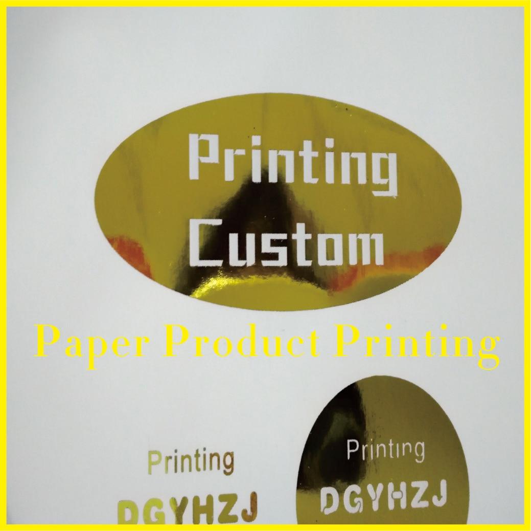 Pegatina de papel dorado con impresión personalizada