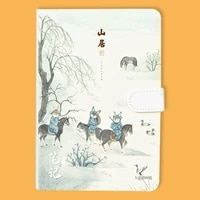 cute note chinese style handbook ancient style notebook small fresh illustration diary color edge notepad notebooks and journals