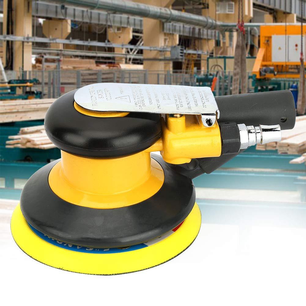 5 inch Air Random Orbital Palm Sander 12mm Pad Eccentricity Dual Pneumatic Power Tool Grinder Action Orbit