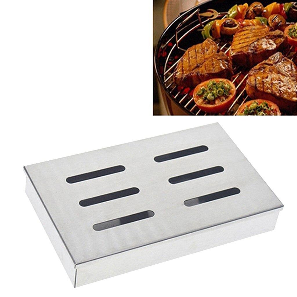 Антипригарная V образная коробка для барбекю коптильня газовый гриль генератор