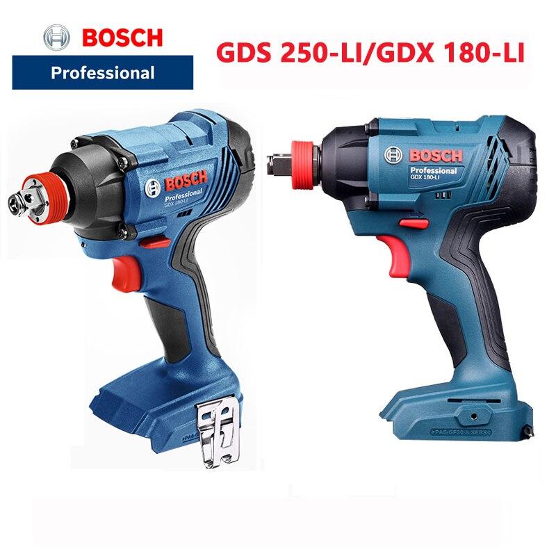 بوش GDS 18V-EC 300ABR المفتاح الكهربائي اللاسلكي مفك كهربائي الليثيوم تأثير وجع (المعدن العارية)