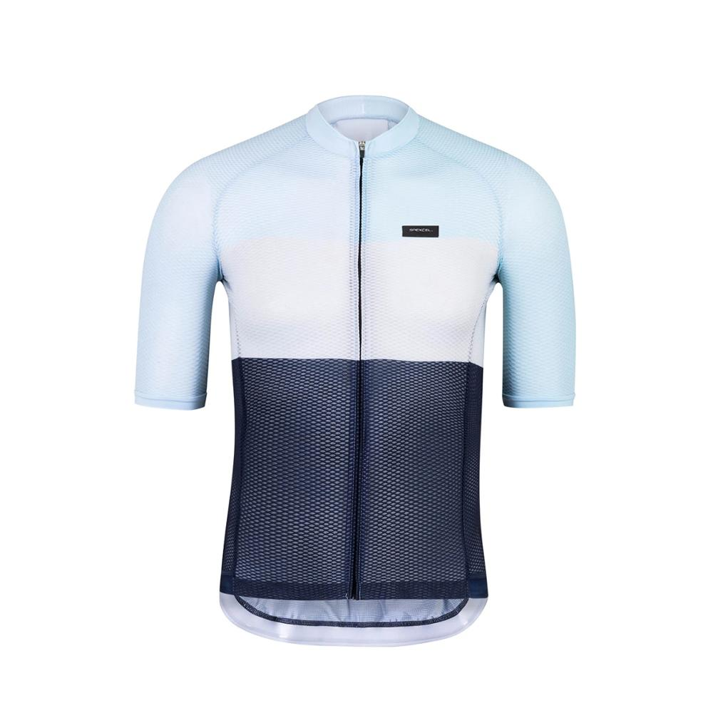 Spexcel-Maillot de ciclista ligero, jersey de manga corta profesional aerodinámico, sin costuras,...