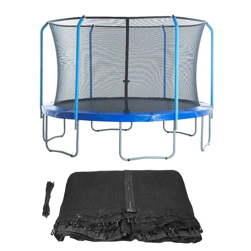 Защитная сетка для батута, сменная защитная сетка, идеальный отскок, подходит для большинства батутов с круглой оправой, Черная