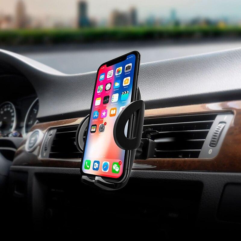 Botón de liberación rápida titular del teléfono del coche soporte de rejilla de ventilación montaje móvil teléfono celular Smartphone soporte Universal de coche