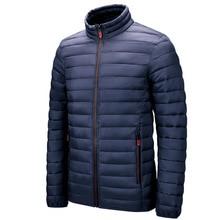 Stand-Up Collar Parka Men's Simple and Light Warm Parka Coat Men's Casual Cotton Coat Multicolor Win