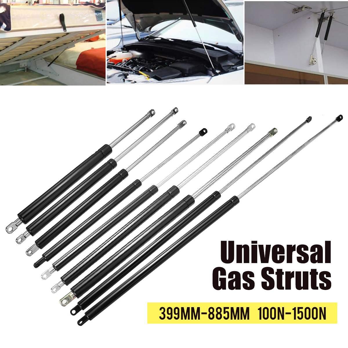 2 pces 399-600mm 100-1500n carro struts gás capô tronco bagageira elevador de choque suporte barra de mola de gás ônibus cama caminhão janela