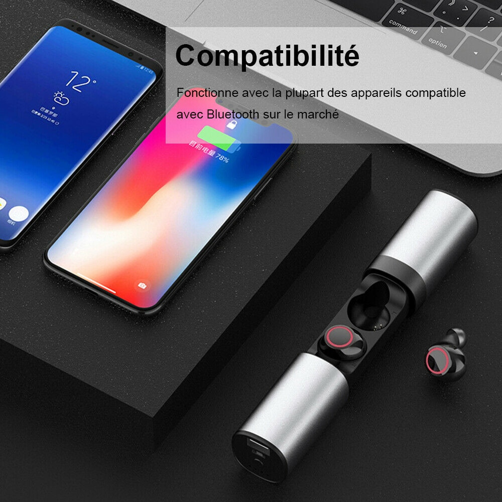 Stereo headset with microphone Bluetooth wireless headset enlarge