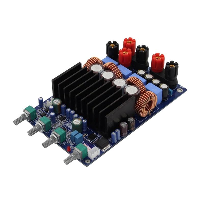 Placa amplificadora Digital 2X150W, 2,1 canales, Clase D, placa amplificadora de potencia con ajuste DIY, para sistema de cine en casa