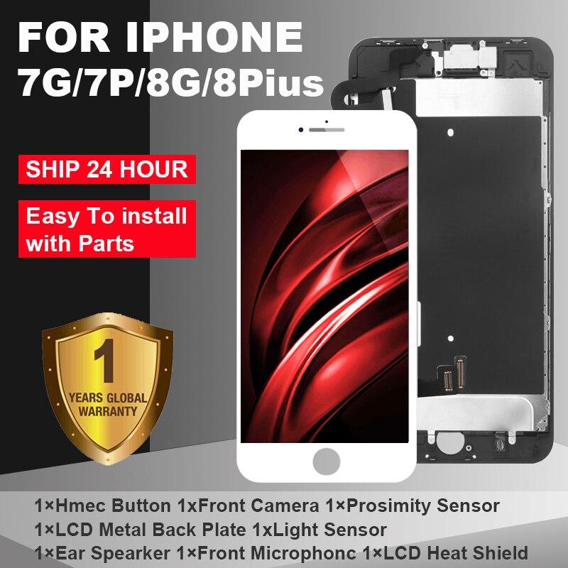 AAA + LCD Für iPhone 7 7Plus iPhone 8 8Plus LCD Vollversammlung Komplett Mit 3D Touchscreen ersatz Display