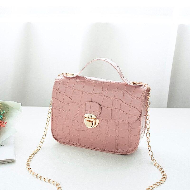 AliExpress - Fashion Crocodile Pattern Messenger Bag Women's 2021 Small Chain Handbag Buckle Colorful Pu Leather Handbag Lady Designer