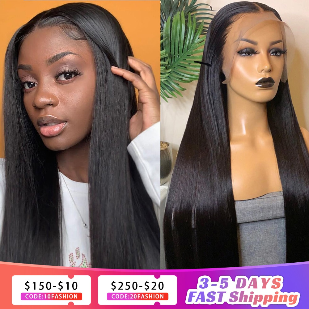 Lace Frontal Human Hair Wigs With Baby Hair Long Straight Brazilian Virgin Hair 4x4/13x4 Lace Fronta