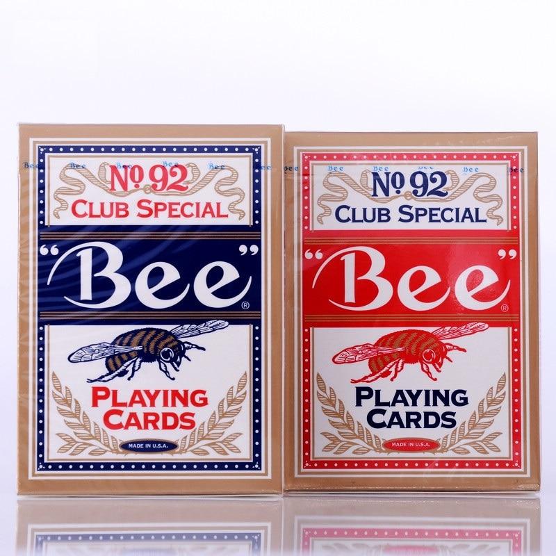 1 шт Высокое качество Bee колода красной или синей Магия Игральных Карт покер магические карты двухслойные реквизит магия фокусы для професс...