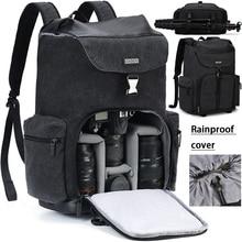 Zaini per fotocamere CADeN borse resistenti all'acqua di grande capacità per Nikon Canon Sony DSLR Len treppiede borsa da viaggio all'aperto per uomo donna