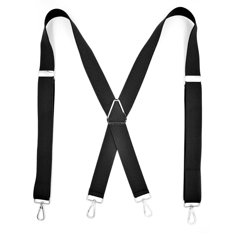 Fashion Suspenders Braces for Women Men with Snap Hooks on Belts Loops Heavy Duty Big Tall Adjustable Elastic Suspender Brace