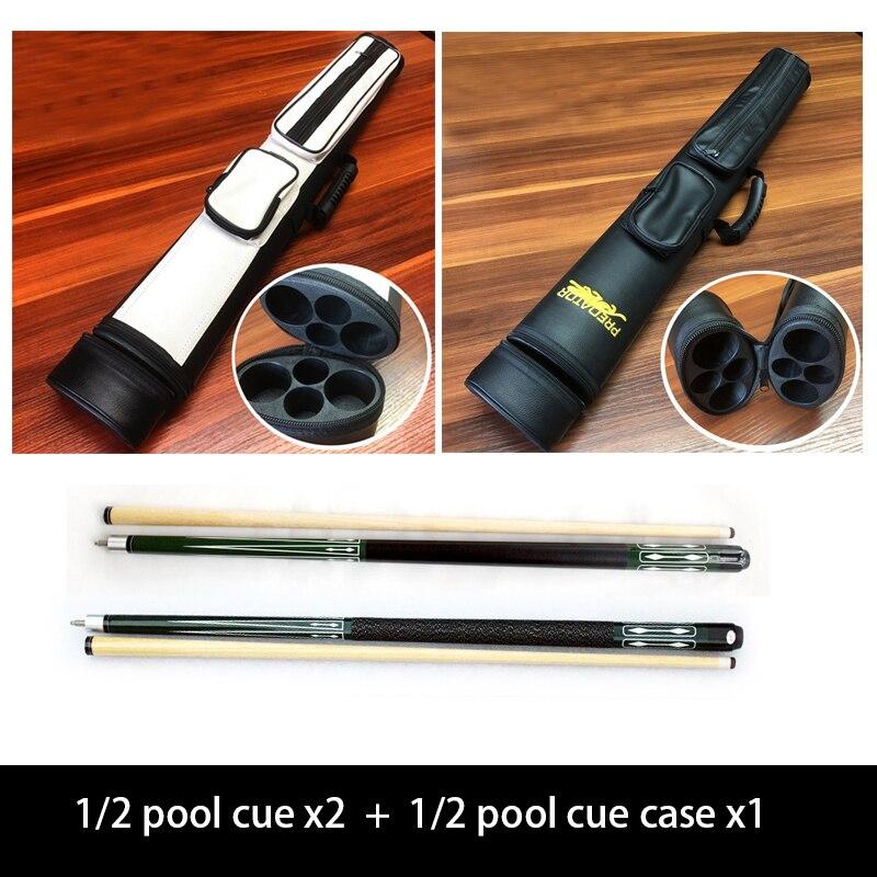 1/2-pc Handmade Snooker/bilard Cue ze skórzanym drewnianym zestaw etui