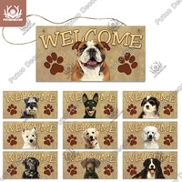 Декоративные таблички для собак Putuo, Деревянный Знак дружбы, деревянный подвесной знак, подвесные знаки для деревянного подвесного домика д...