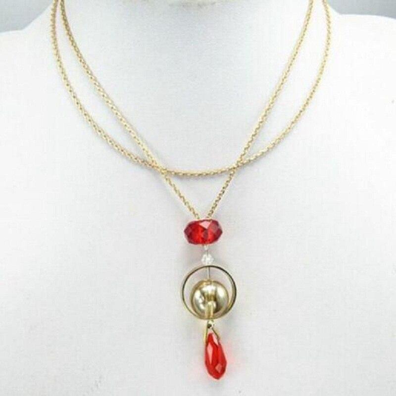 Nuevo collar de piedras rojas de Harry potter para mujer, joyería de moda, gargantillas para mujer, accesorios para novia, fiesta, regalo de cumpleaños, Juguetes