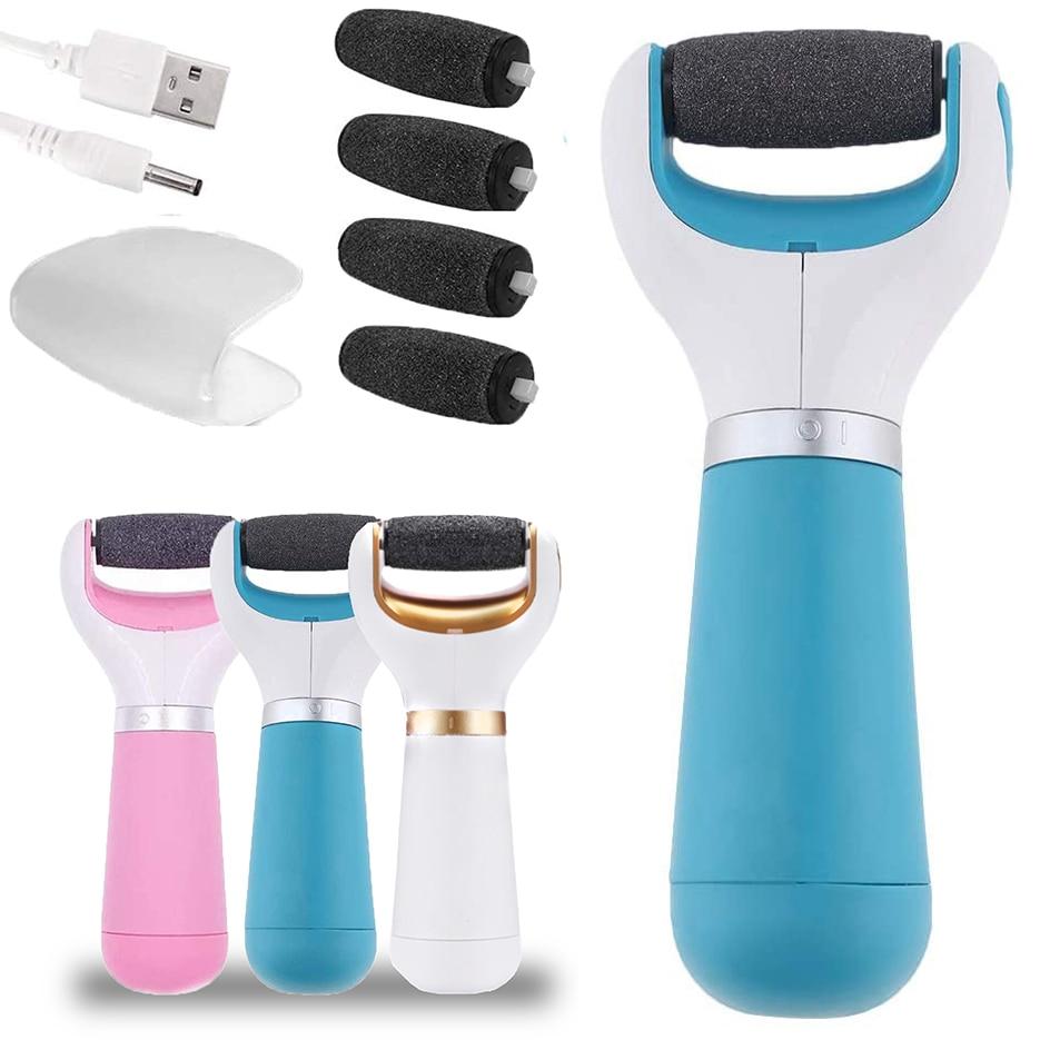 Lima eléctrica de pies al vacío para pedicura, eliminador de callos de piel muerta, limas para pie, recargable por USB, herramienta de cuidado de la piel del pie