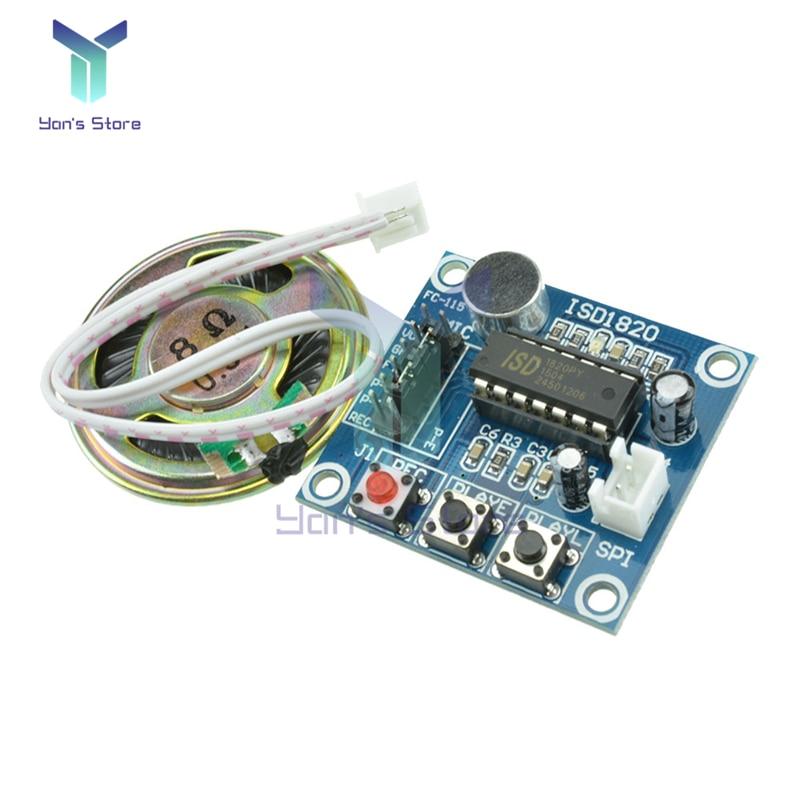 Модуль записи ISD1820, Плата усилителя мощности, модуль воспроизведения, плата аудиотелефона с микрофонами, громкоговорителем для Arduino