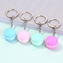 1PC  Multicolor Cute resinArtificial Fake Food  Macaron charm keychain  Macaron keyring handbag charms for woman