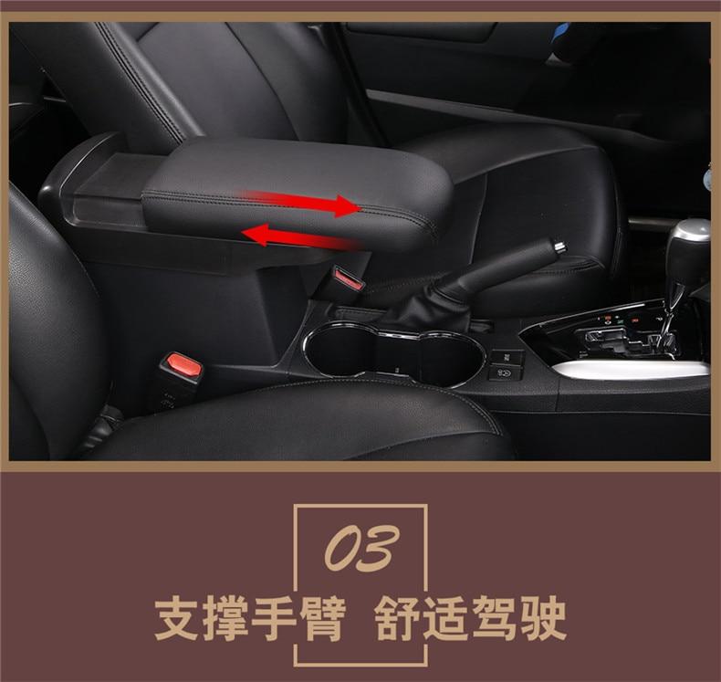 For Hyundai Creta IX25 2015-2020 Armrest box lengthen heighten retrofit support decoration car accessories